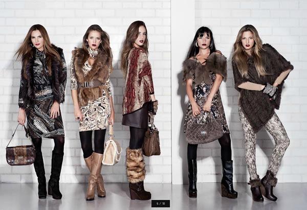 vestidos de invierno con botas largas