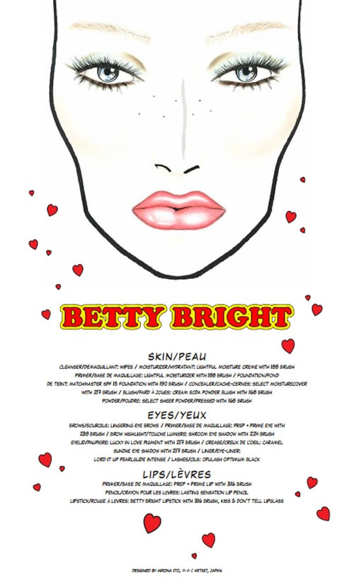 Archies-Girls-Betty-Coleccion-MAC-Cosmetics-Facechart-Betty- Bright