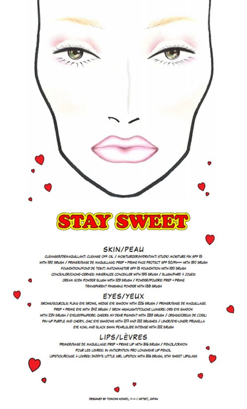 Archies-Girls-Betty-Coleccion-MAC-Cosmetics-Facechart-Stay-Sweet