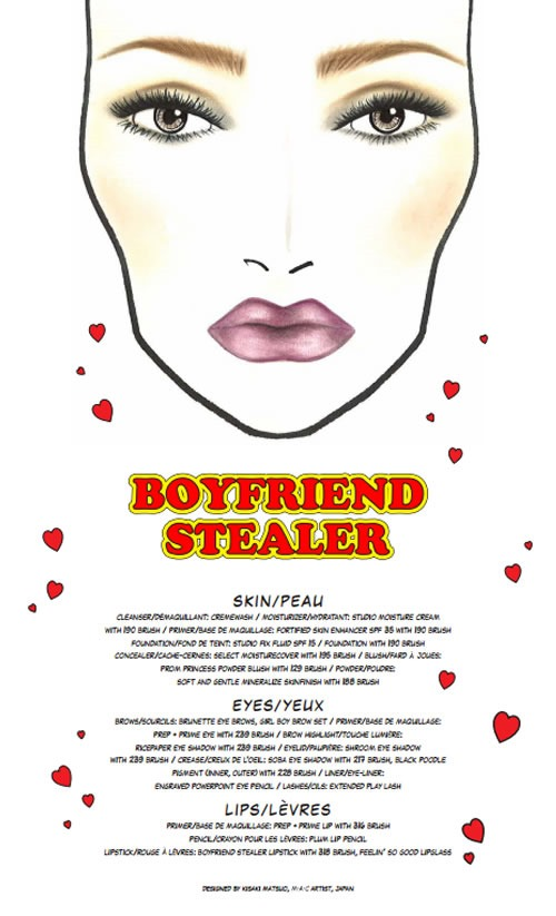 Archies-Girls-Veronica-Coleccion-MAC-Cosmetics-Face-Chart-Boyfriend-Stealer