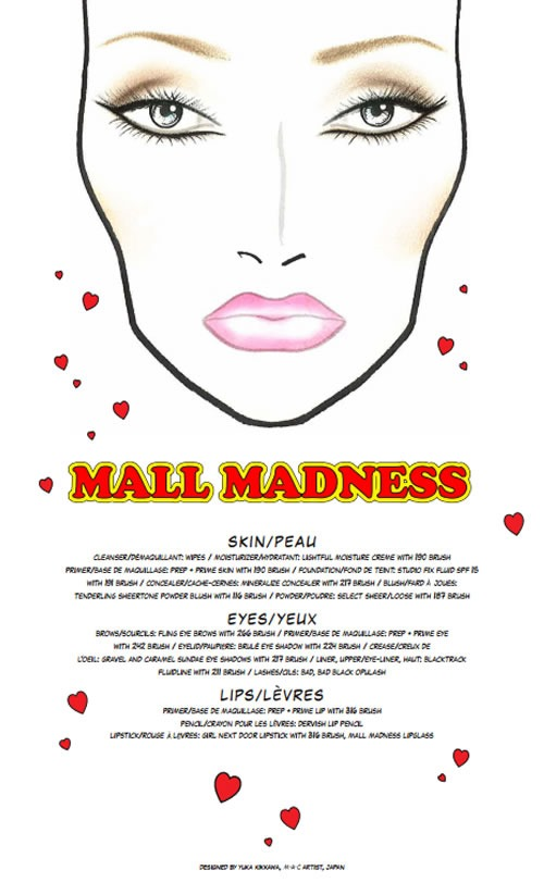 Archies-Girls-Veronica-Coleccion-MAC-Cosmetics-Face-Chart-Mall-Madness