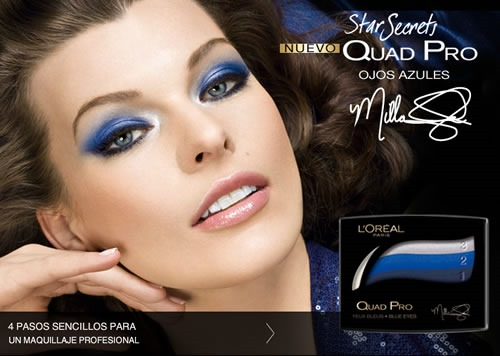Cuarteto-Sombras-LOreal-Quad-Pro-Midnight-Blue-Bleu-Nuit-358-Milla-Jovovich