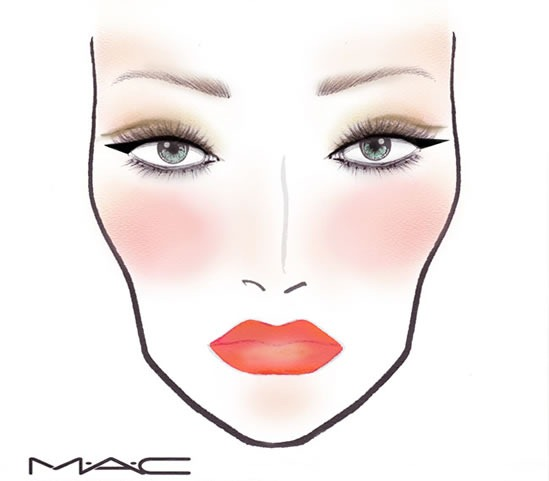 Kelly-Osbourne-MAC-Face-Chart-John-Stapleton-Oscar-2012