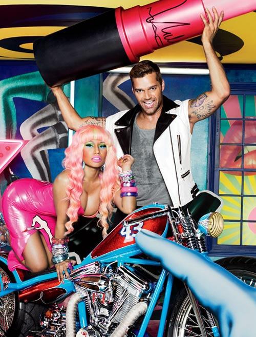 Viva-Glam-2012-Nicki-Minaj-Ricky-Martin