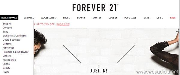 como-comprar-en-forever-21-guia-paso-a-paso-menu-navegacion